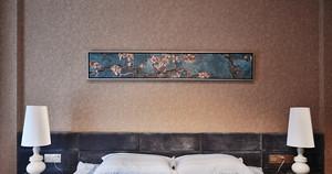 130㎡中式风格卧室壁纸装修设计图