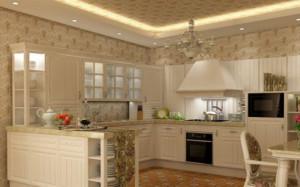 欧式开放式厨房橱柜装修效果图