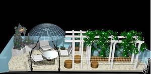 别墅屋顶花园设计效果图