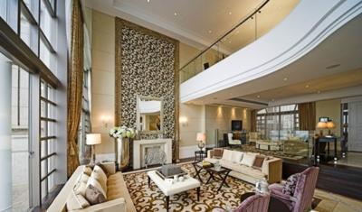 歐式風格樓中樓客廳裝修效果圖