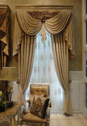法式风格客厅窗帘装修效果图