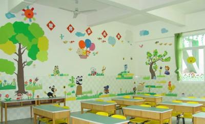 2015田园风格幼儿园教室布置设计装修效果图