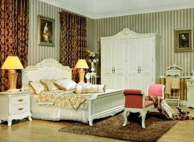 兩室一廳法式田園豪華別墅臥室