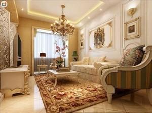 二层自建别墅欧式客厅装修效果图