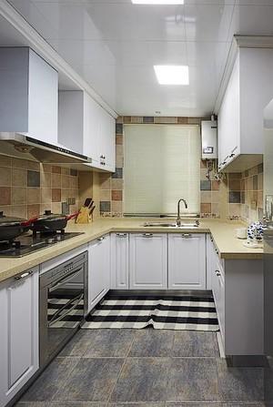 U型小清新厨房橱柜效果图
