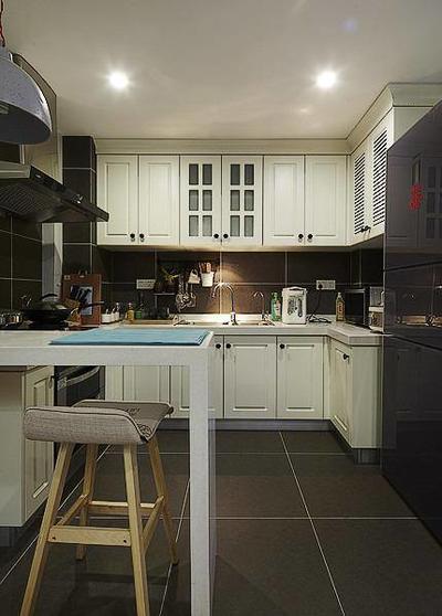 清新現代簡約廚房裝修效果圖