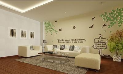 客廳硅藻泥沙發背景墻裝修效果圖