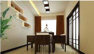大戶型餐廳胡桃米家具裝修設計效果圖