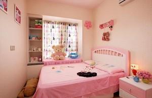 90平米巴洛克风格儿童卧室背景墙装修效果图