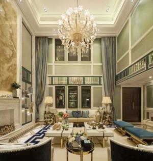 80平米浪漫法式客厅装修效果图