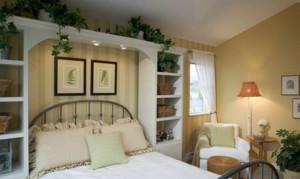 50平米美式田园风格精美卧室装修效果图