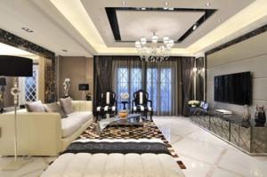 100平米后現代風格客廳簡約裝修效果圖