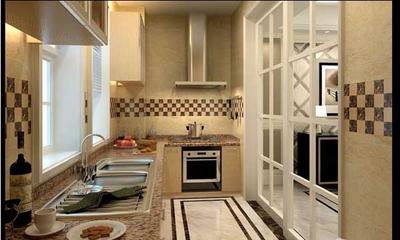 簡約時尚廚房移門設計效果圖
