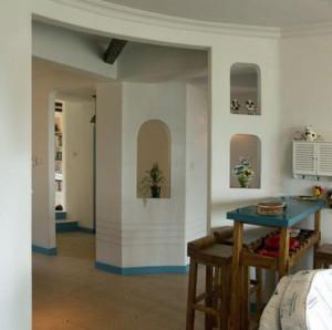 地中海风格厨房吧台装修效果图