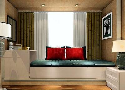 時尚豪華臥室飄窗裝修效果圖