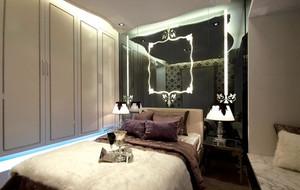 三室一廳法式風格臥室背景墻設計裝修效果圖