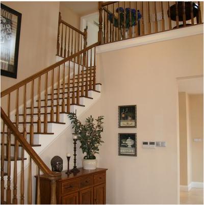 美式別墅樓梯裝修效果圖