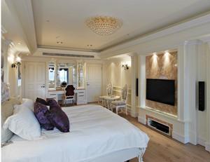 单身公寓巴洛克风格小卧室背景墙装修效果图