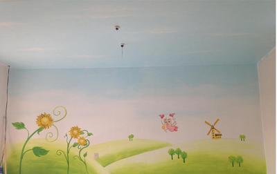 乡村幼儿园壁画图片