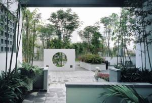 超大豪华中式别墅庭院绿化装修效果图
