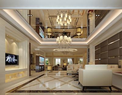 2015豪華型別墅樓中樓裝修效果圖
