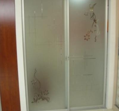 10平米卫生间磨砂玻璃移门