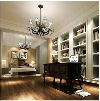 美式別墅書柜裝修效果圖