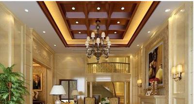 欧式别墅客厅吊顶装修效果图