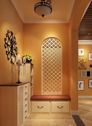 美式別墅客廳玄關裝修效果圖