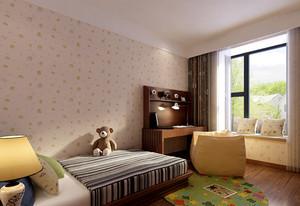 平凡素雅的中式儿童房设计效果图鉴赏