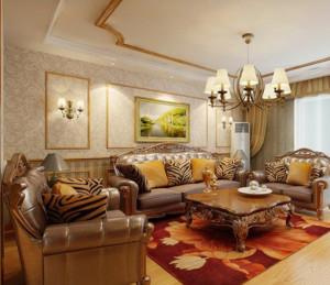 美式乡村客厅沙发装修效果图片