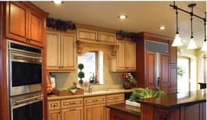 美式乡村别墅厨房装修效果图