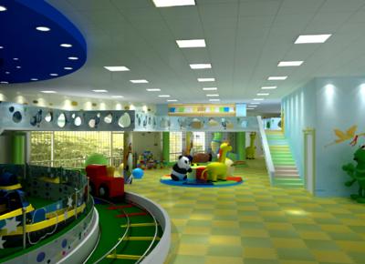 現代簡約風格兒童樂園裝修效果圖