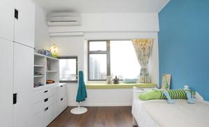 120平米復式樓飄窗窗簾裝修效果圖