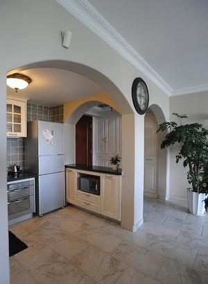 30平米混搭田園風格開放式廚房裝修效果圖
