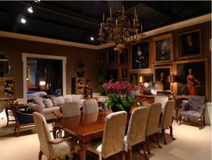 三室一厅别样风情的现代巴洛克风格客厅装修效果图