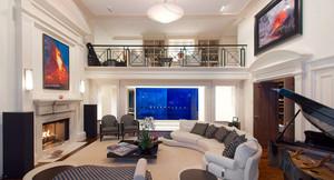 200平米的现代奢华复式公寓装修效果图
