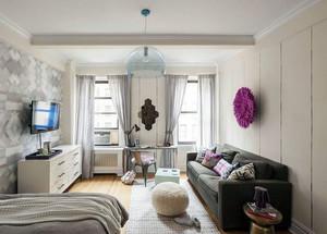 活力简约单身女性小户型公寓装修设计效果图