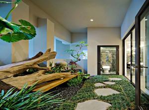 让你不想离开家的迷人别墅入户花园装修效果图
