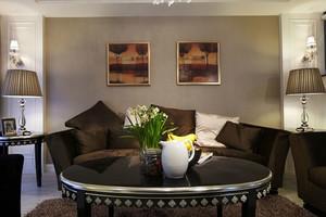 160平米黑白经典搭配新古典复式公寓装修效果图