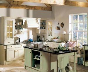 法式開放式精美廚房裝修效果圖