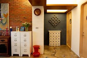 120平米温馨美式乡村混搭老房改造设计图