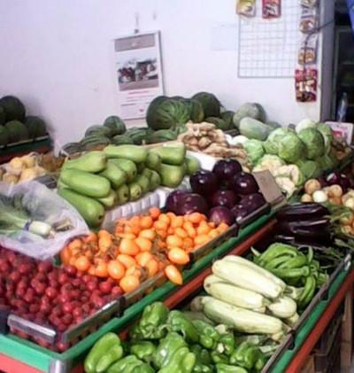 专卖新鲜蔬菜:蔬菜超市装修效果图