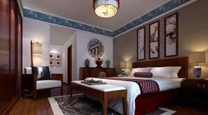 现代or古典:100㎡大户型中式卧室装修效果图大全