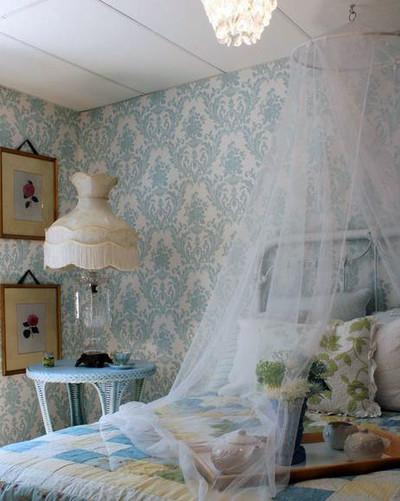 歐式豪華別墅臥室液體壁紙效果圖大全