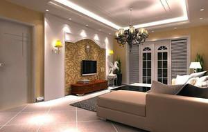 客厅 欧式 电视墙 别墅装修