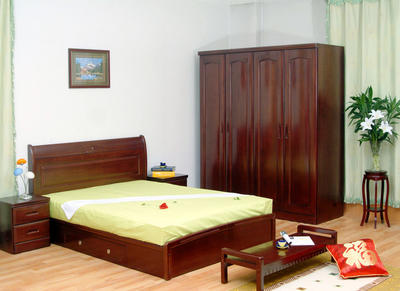 各種樣式臥室原木家具裝修效果圖設計