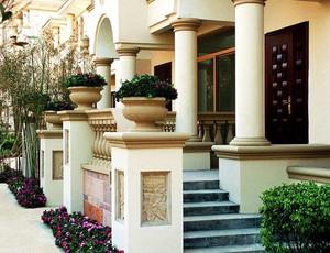 美式简约风格别墅庭院足彩导航效果图设计