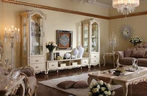 典雅法式气质客厅酒柜效果图大全