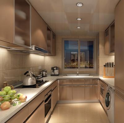 三居室簡約風格廚房裝修效果圖